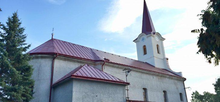 VEĽKÉ KAPUŠANY – Kostol sv. Šimona a Júdu; Rekonštrukcia strechy lode