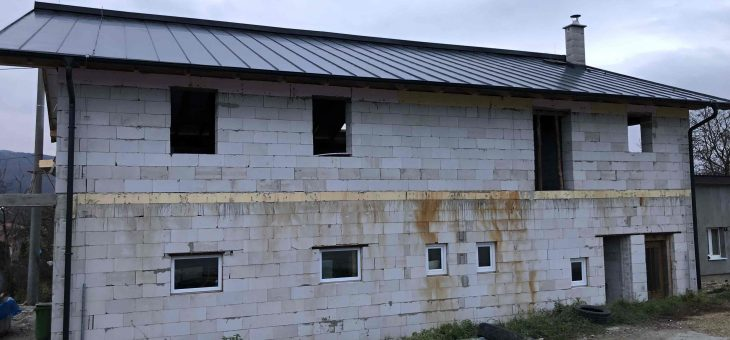 Demjata – Hasičská zbrojnica, nadstavba a nový krov strechy