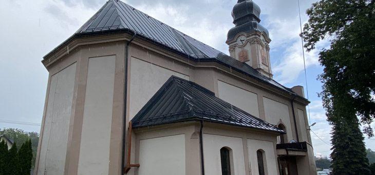 MYSLAVA – Rekonštrukcia veže a strechy kostola sv. Bartolomeja